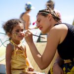 Face Painting Rockaway Beach Honey Festival - nychoneyweek