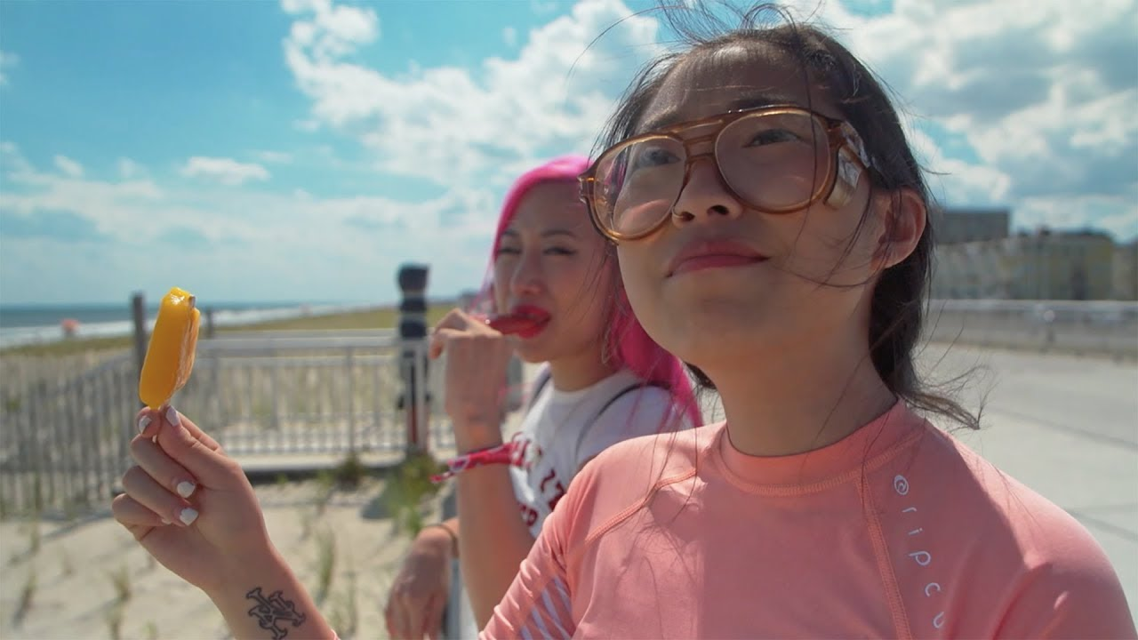 Awkwafina Visits The Best Beach Ever