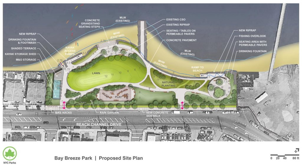 Bay Breeze Park Proposed Site Plan Rockaway Beach Queens NYC therockawaysny