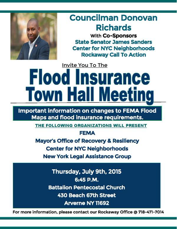 Flood Insurance Town Hall Meeting July 9