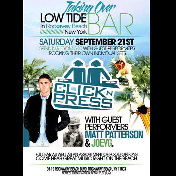 Click N Press Low Tide Bar Saturday September 21 Rockaway Beach