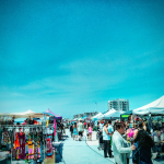 Many Vendors At Rockaway Beach Boardwalk Fair Queens