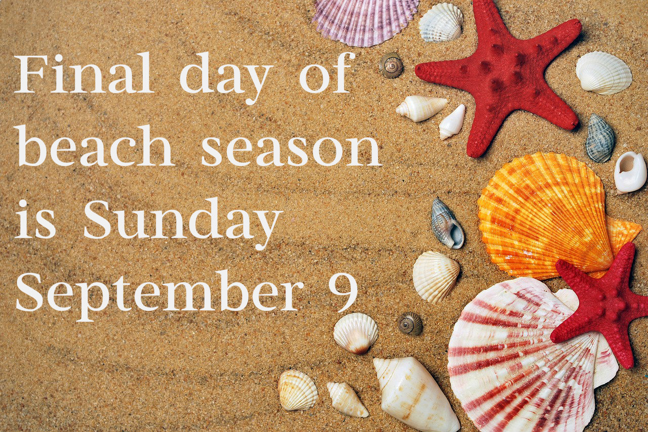 Final Day Of Beach Season Is Sunday September 9